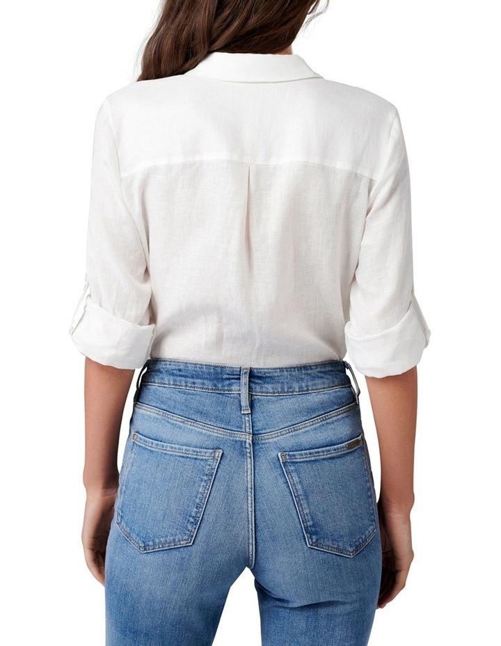 Viviana Long Sleeve Linen Shirt image 4