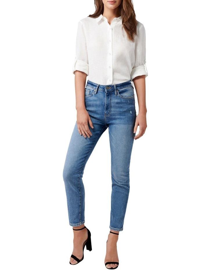 Viviana Long Sleeve Linen Shirt image 5