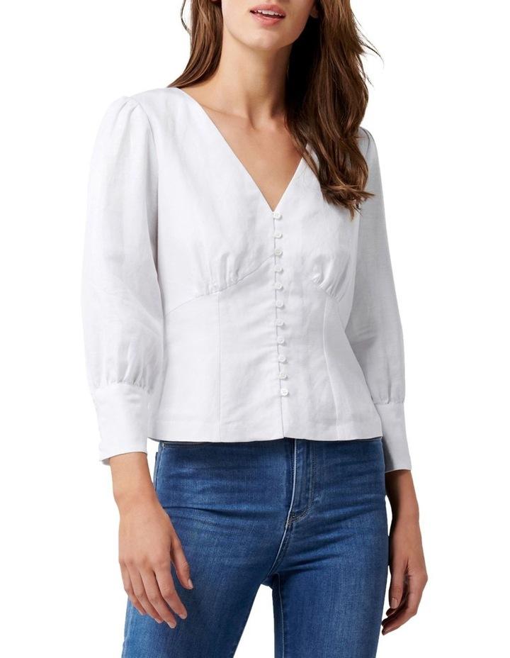 Alexis V Neck Button Front Blouse image 1