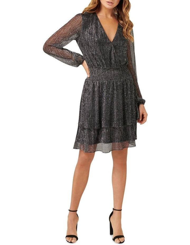 Katie Metallic Plisse Wrap Mini Dress image 1