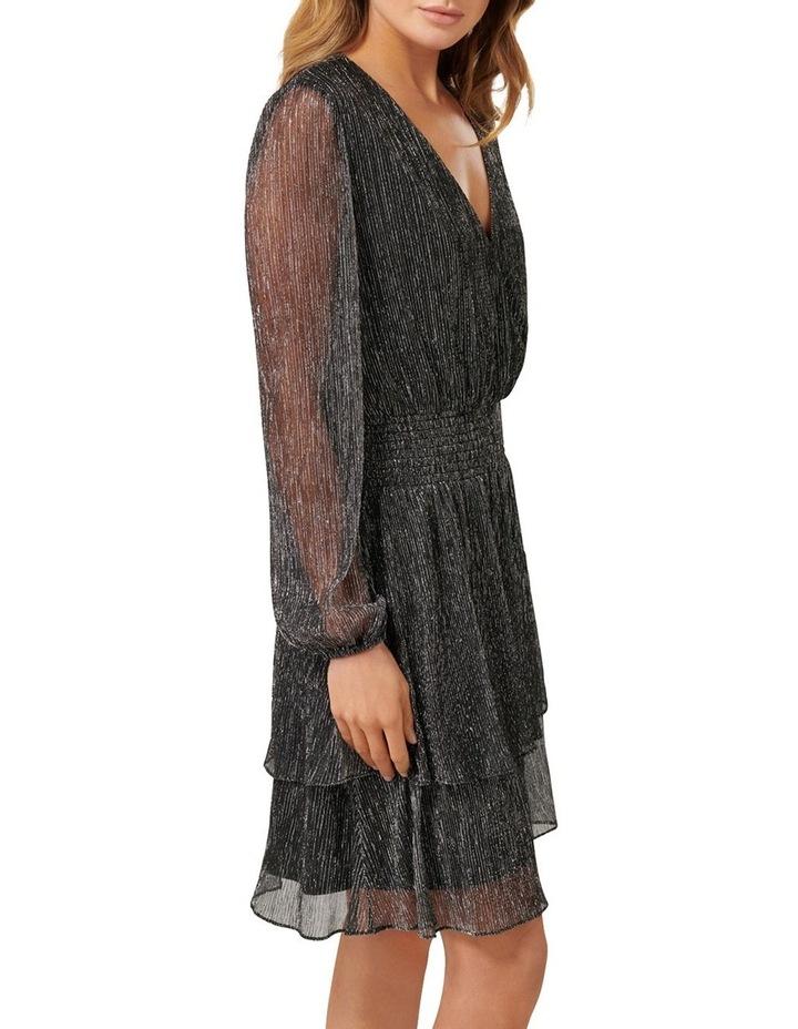 Katie Metallic Plisse Wrap Mini Dress image 2