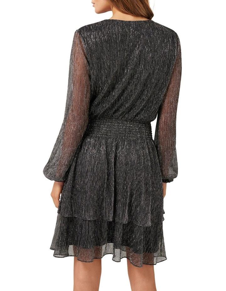 Katie Metallic Plisse Wrap Mini Dress image 3