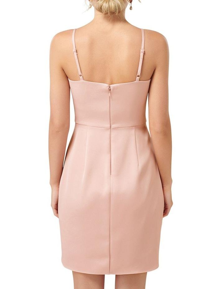 Romy Satin Drape Mini Dress image 4