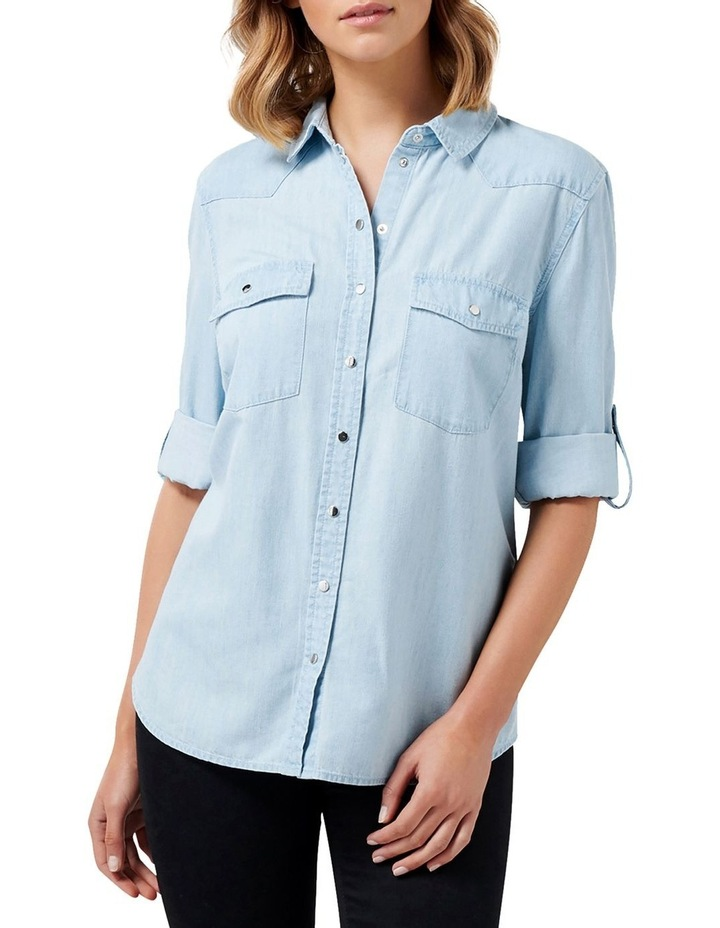 Arielle Western Denim Shirt image 1