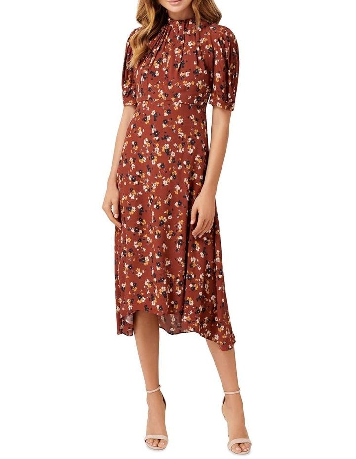 Tessa Puff Sleeve Midi Dress image 1