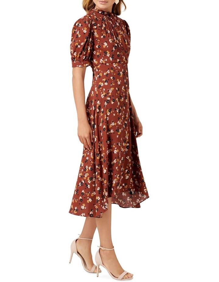 Tessa Puff Sleeve Midi Dress image 2