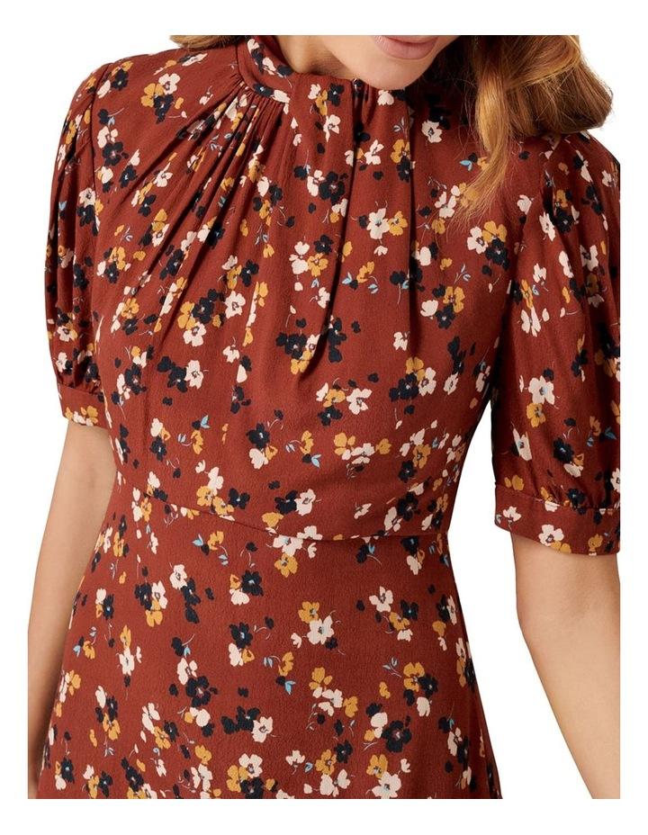 Tessa Puff Sleeve Midi Dress image 4
