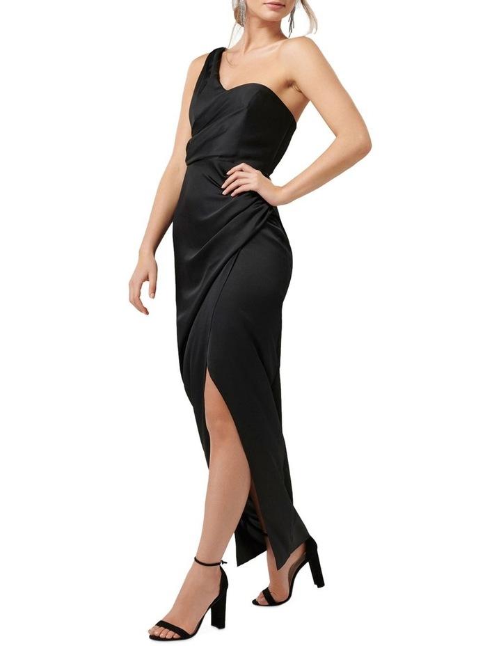 Camille Asymmetric One Shoulder Drape Maxi Dress image 3