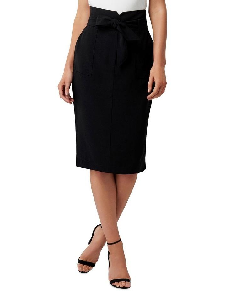 Olivia Satin Crepe Pencil Skirt image 1
