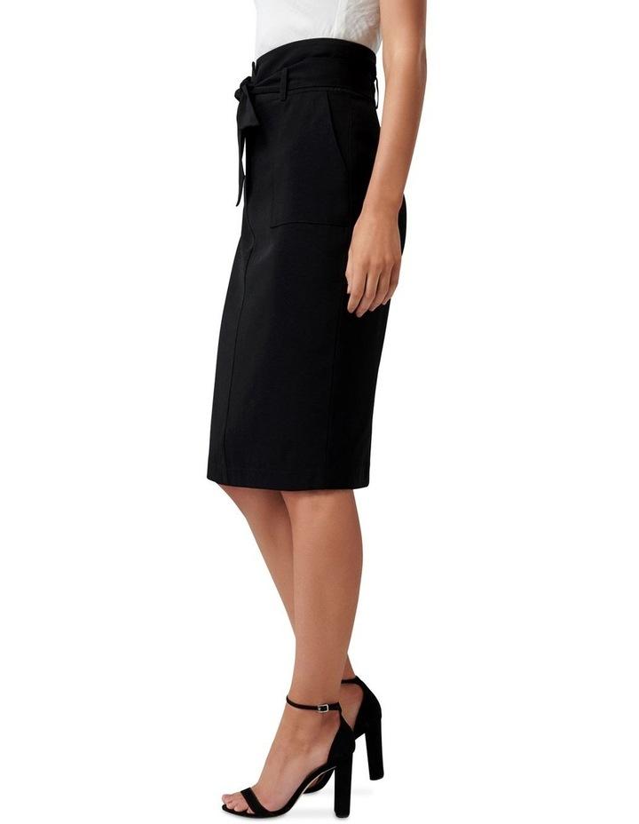 Olivia Satin Crepe Pencil Skirt image 2