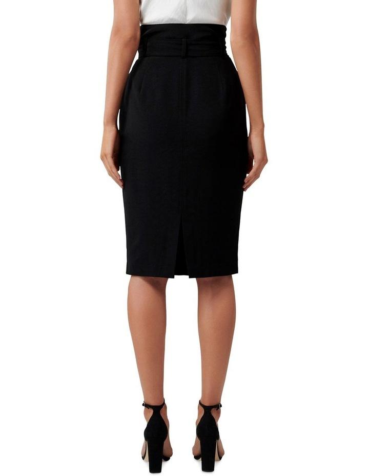 Olivia Satin Crepe Pencil Skirt image 3