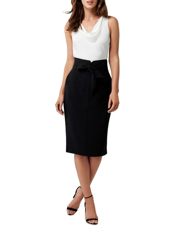 Olivia Satin Crepe Pencil Skirt image 4