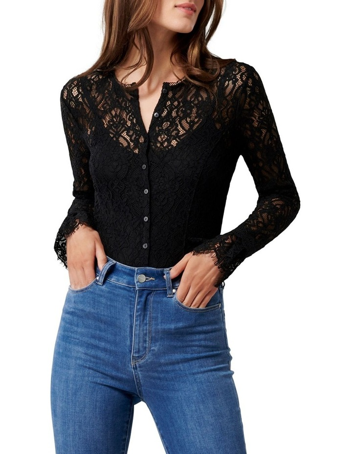 Annora Lace Button Down Bodysuit image 1