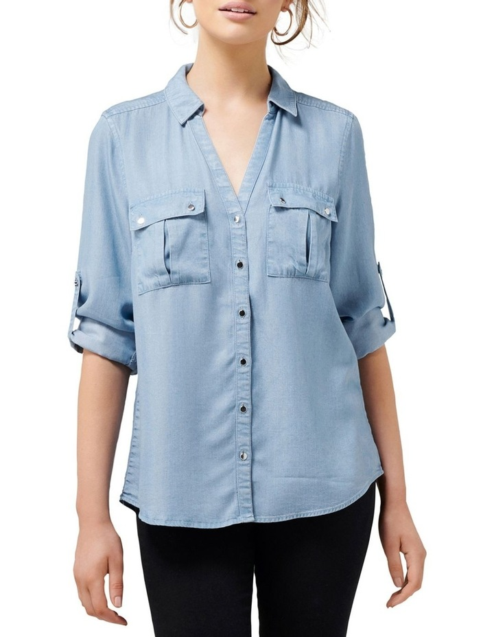 Lola Denim Utility Roll Sleeve Shirt image 1