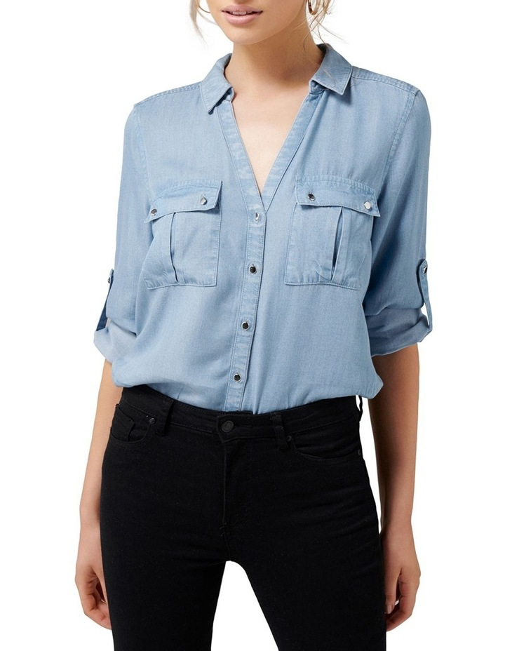 Lola Denim Utility Roll Sleeve Shirt image 2