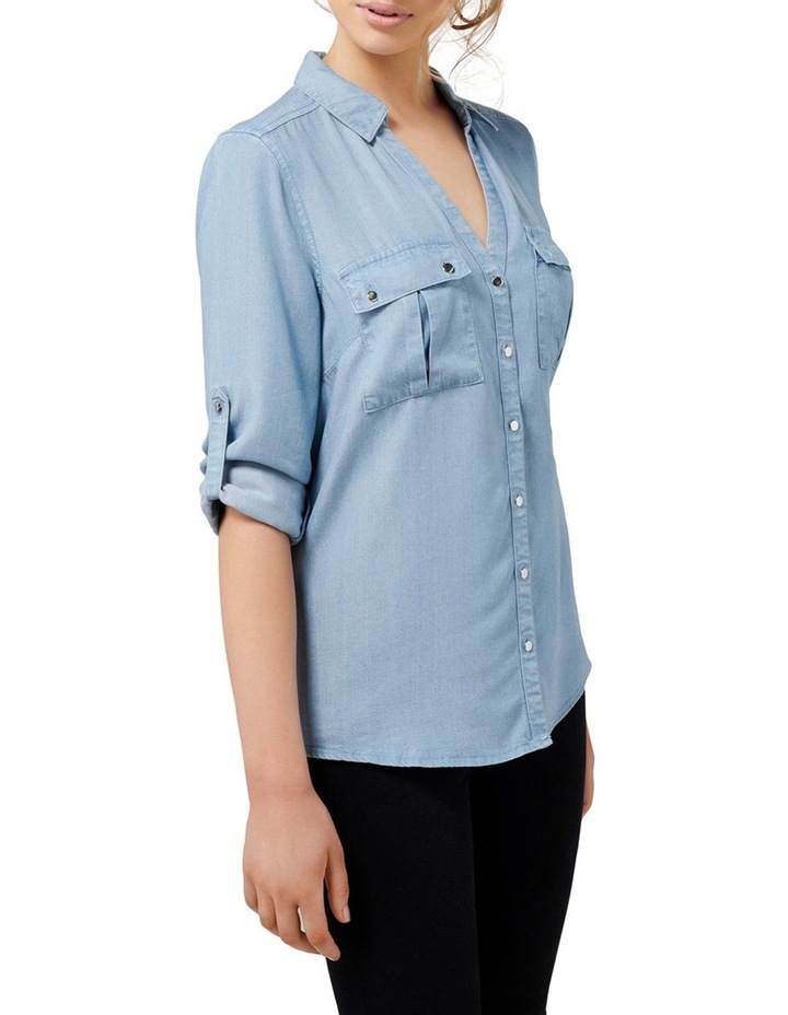 Lola Denim Utility Roll Sleeve Shirt image 3