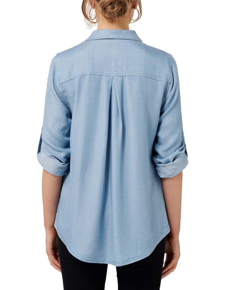 Lola Denim Utility Roll Sleeve Shirt image 4