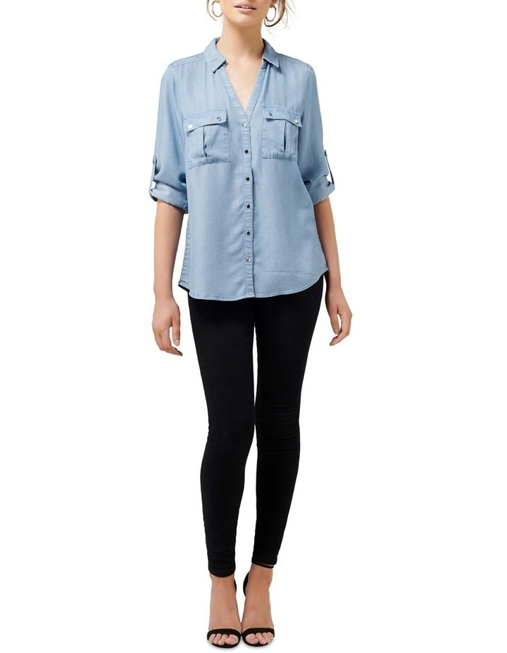 Lola Denim Utility Roll Sleeve Shirt image 5
