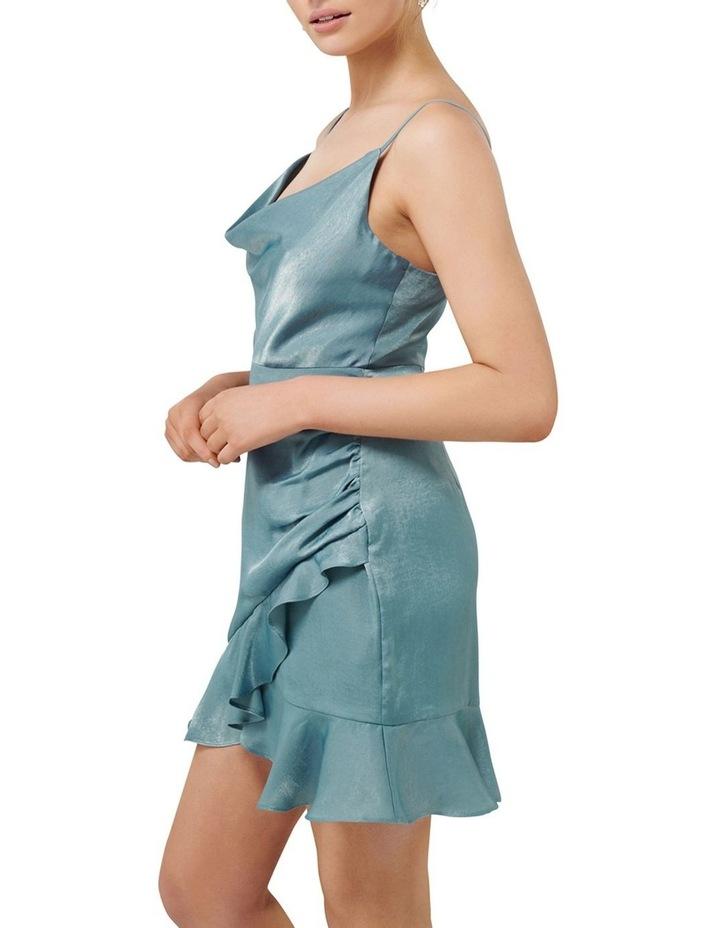 Fifi Petite Cowl Neck Wrap Frill Mini Dress image 2