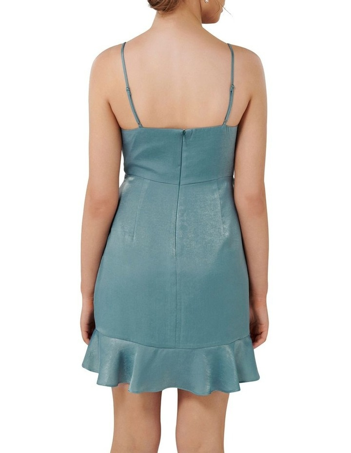 Fifi Petite Cowl Neck Wrap Frill Mini Dress image 3