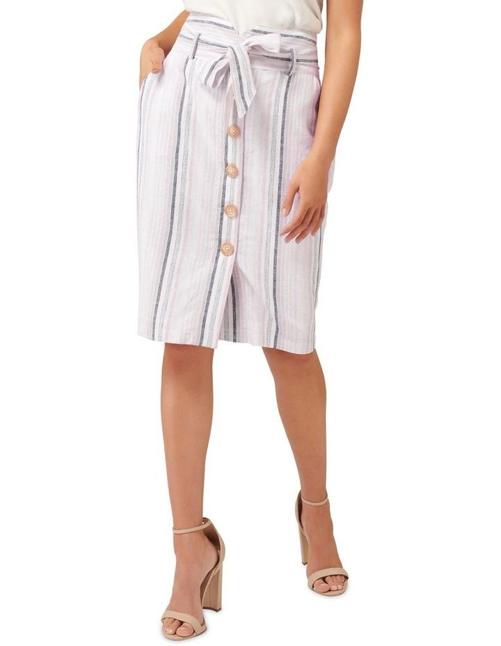 Abbey Linen Blend Pencil Skirt image 1