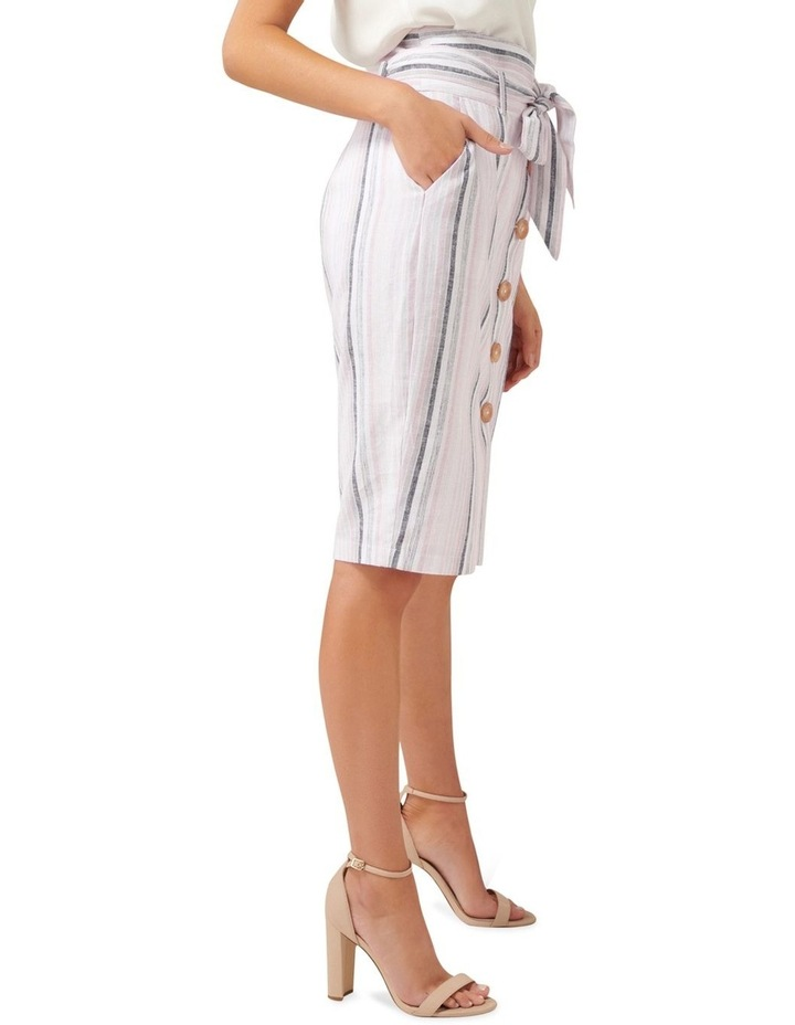 Abbey Linen Blend Pencil Skirt image 2