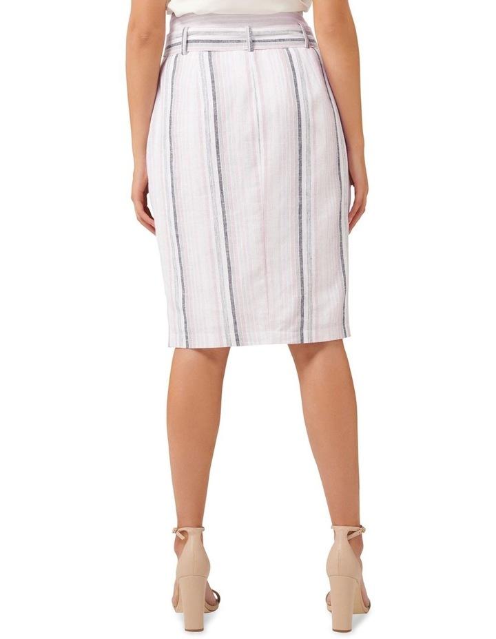 Abbey Linen Blend Pencil Skirt image 3