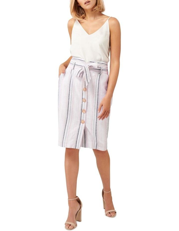 Abbey Linen Blend Pencil Skirt image 4