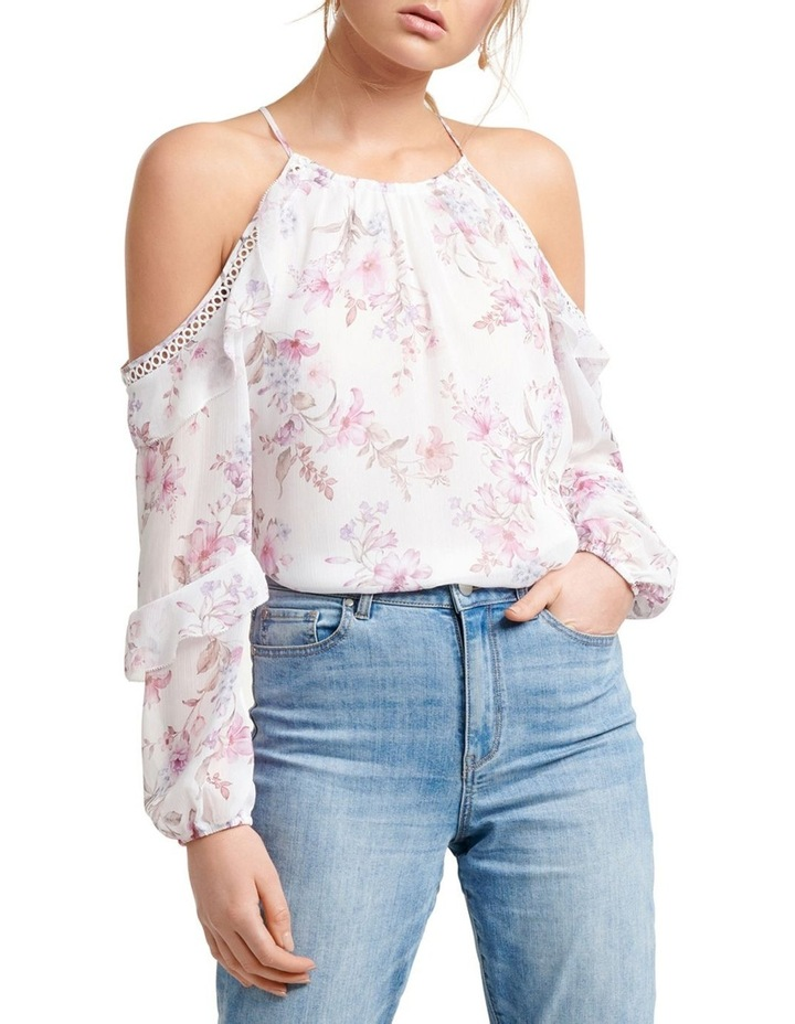 Rosa Ruffle Flock Cold Shoulder image 1