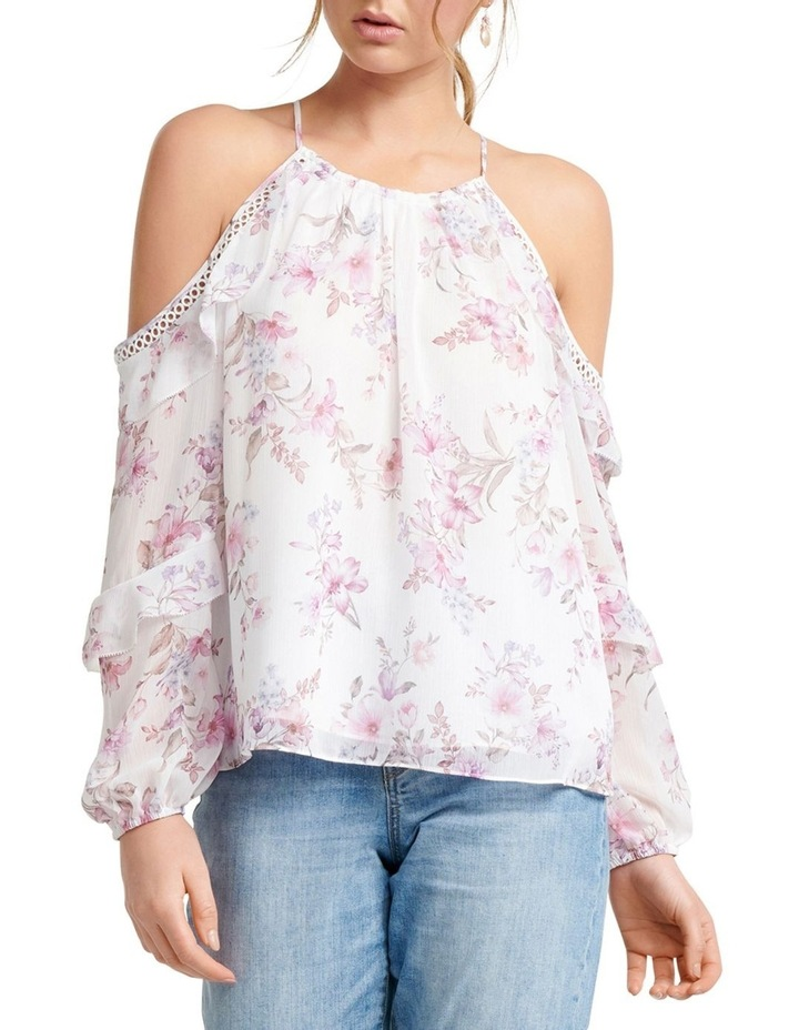 Rosa Ruffle Flock Cold Shoulder image 2