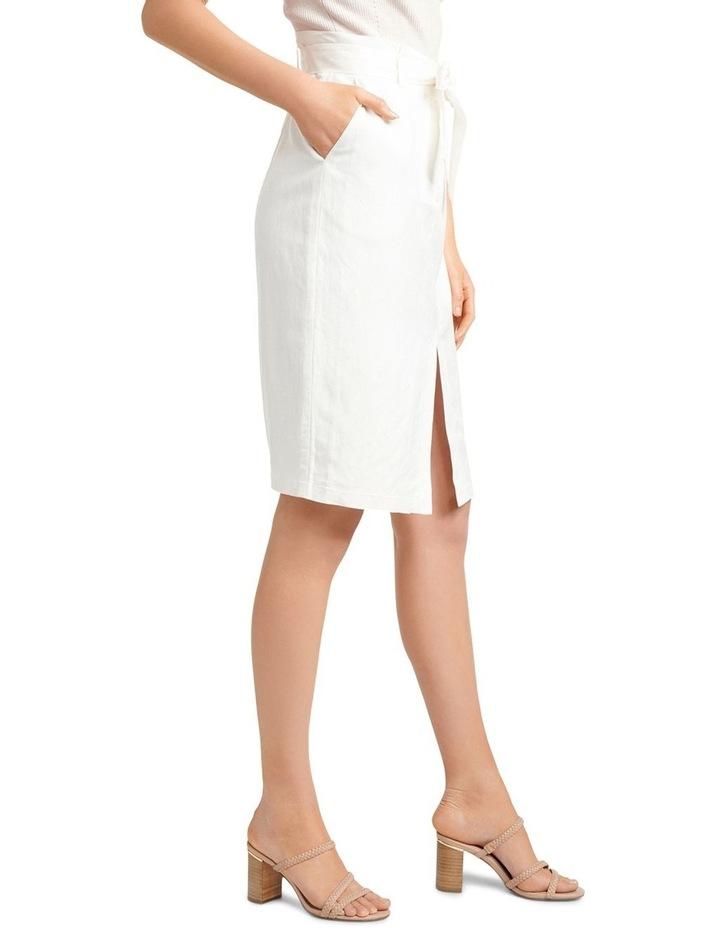 Eden Linen Blend Pencil Skirt image 2