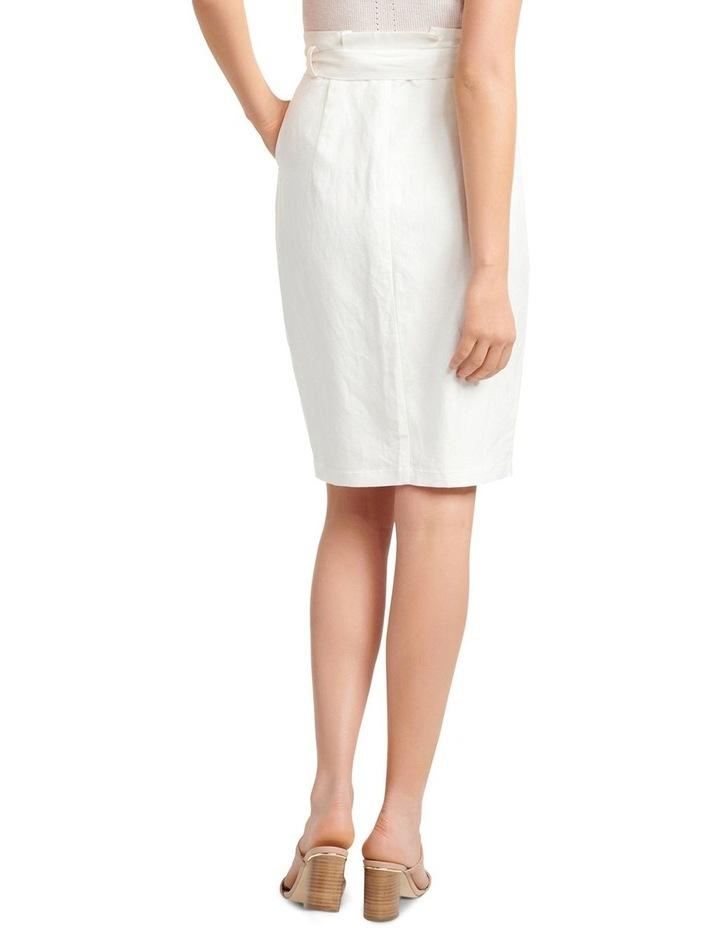 Eden Linen Blend Pencil Skirt image 3