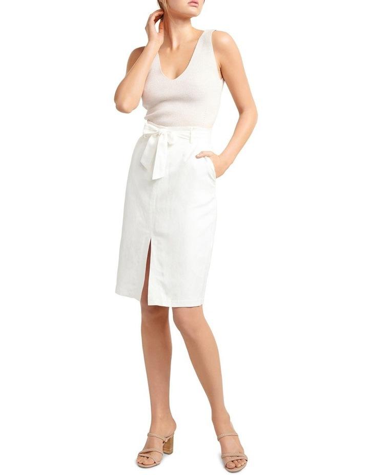 Eden Linen Blend Pencil Skirt image 4