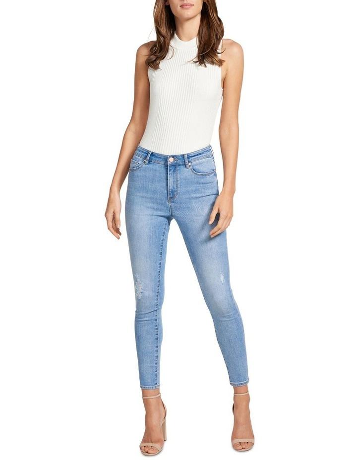 Zoe Mid Rise Ankle Grazer Jean image 4