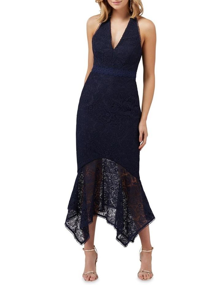Tomeeka Halter Neck Lace Midi Dress image 1