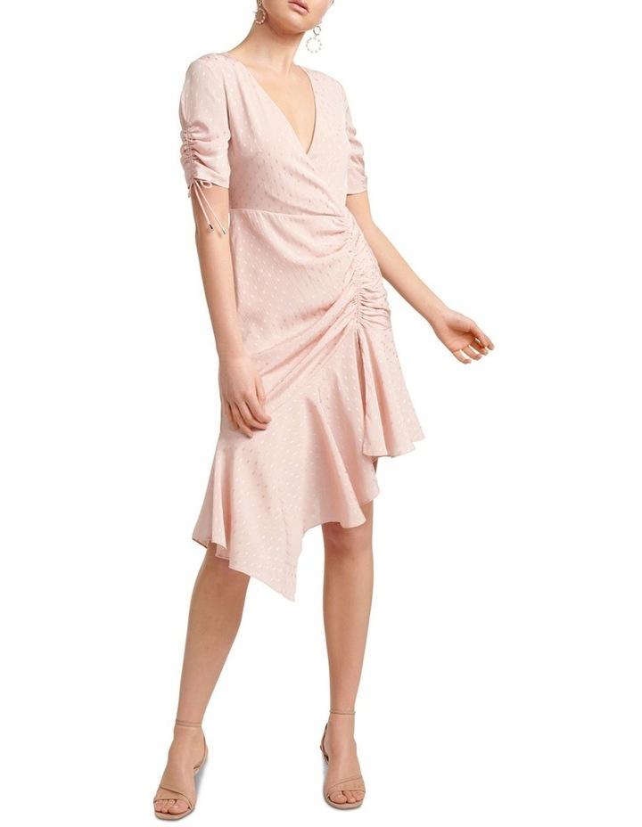 Aleena Rouched Asymmetric Wrap Dress image 1