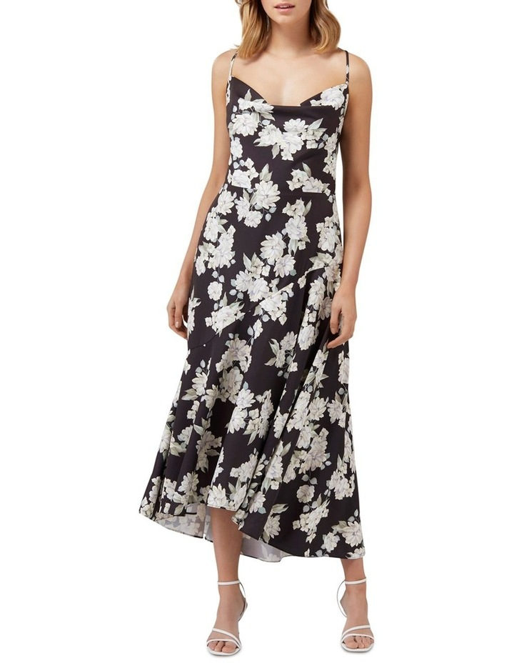 Aubrie Backless Cowl Satin Midi image 1
