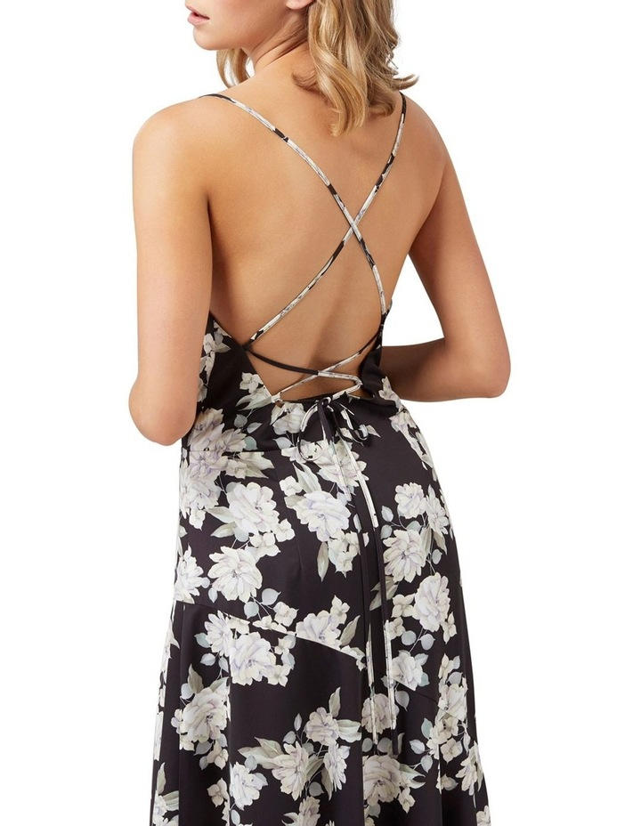 Aubrie Backless Cowl Satin Midi image 2