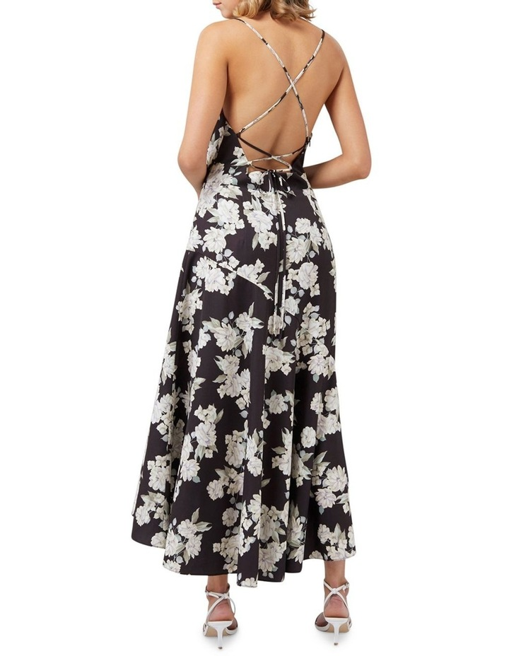 Aubrie Backless Cowl Satin Midi image 4
