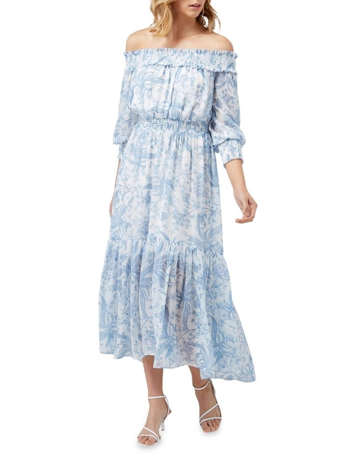 Annie Rouched Bardot Maxi Dress image 1