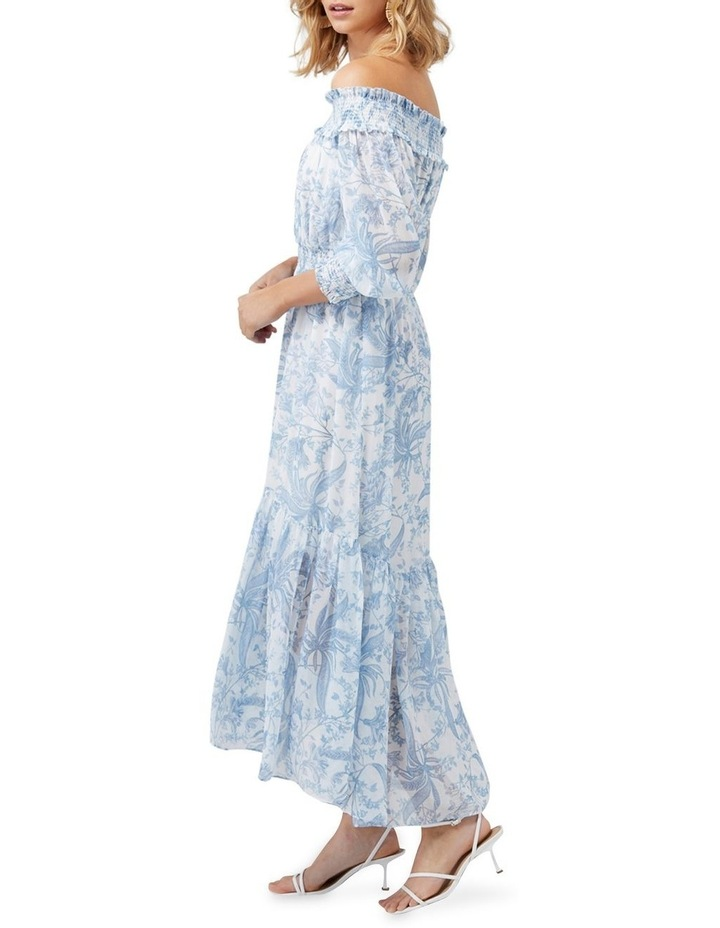 Annie Rouched Bardot Maxi Dress image 3
