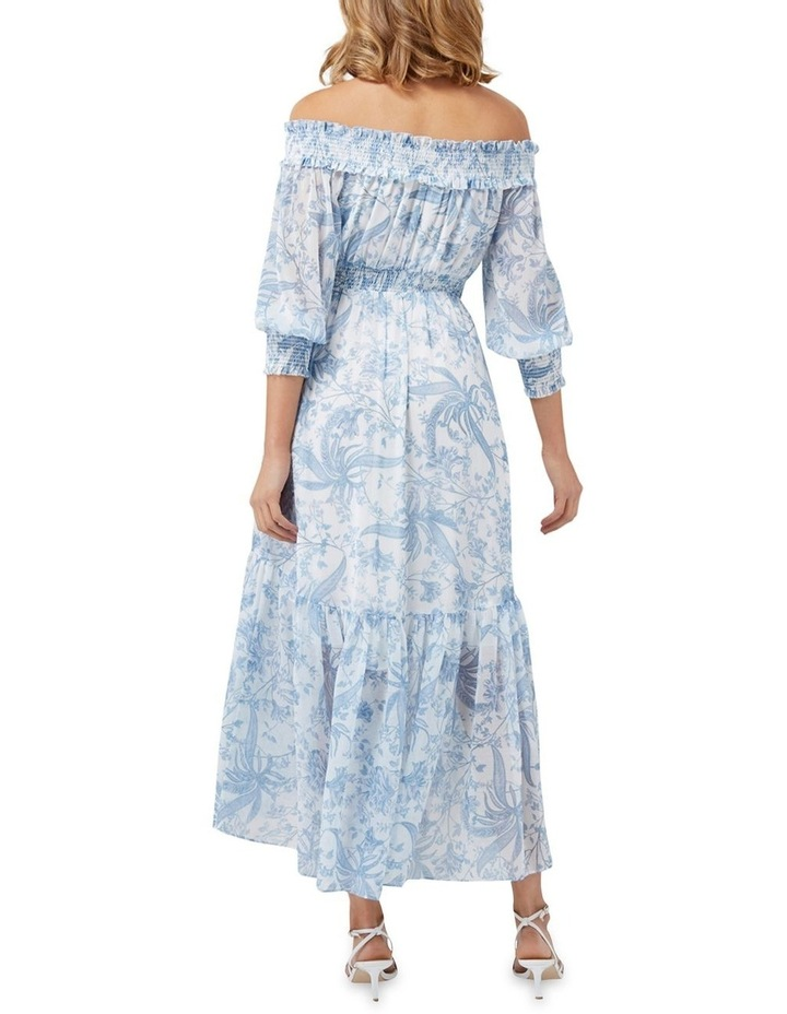 Annie Rouched Bardot Maxi Dress image 4