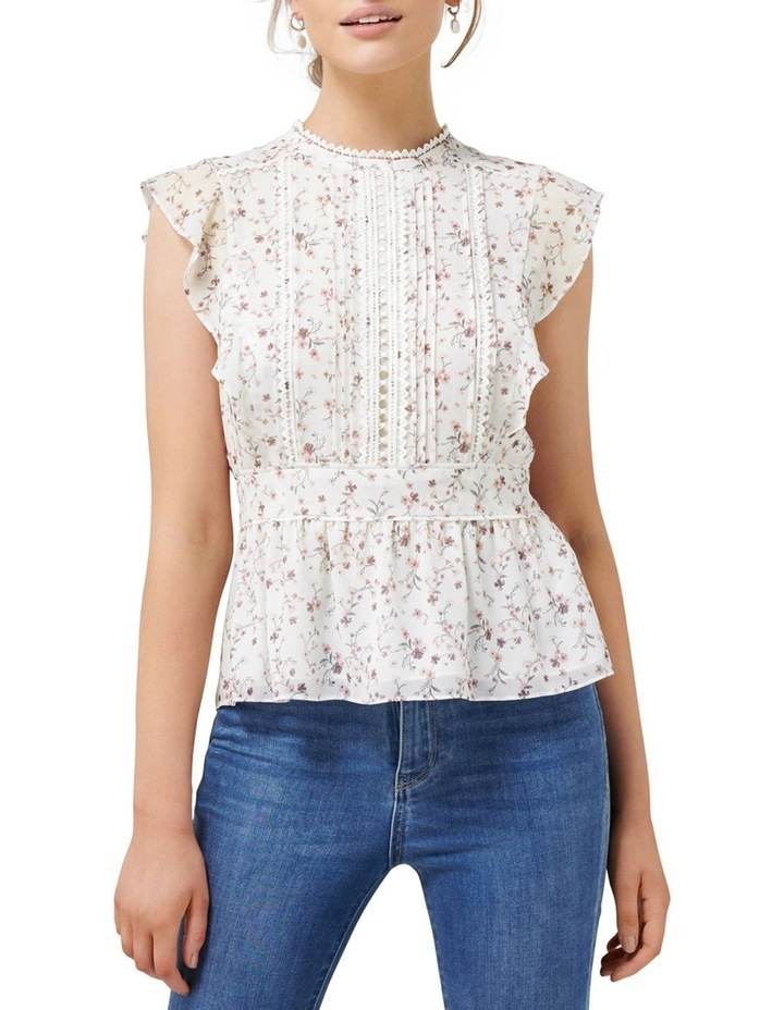 Astrid Pintuck Splice Blouse image 1