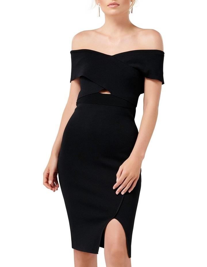 Luna Cross Front Bardot Knit Dress image 1