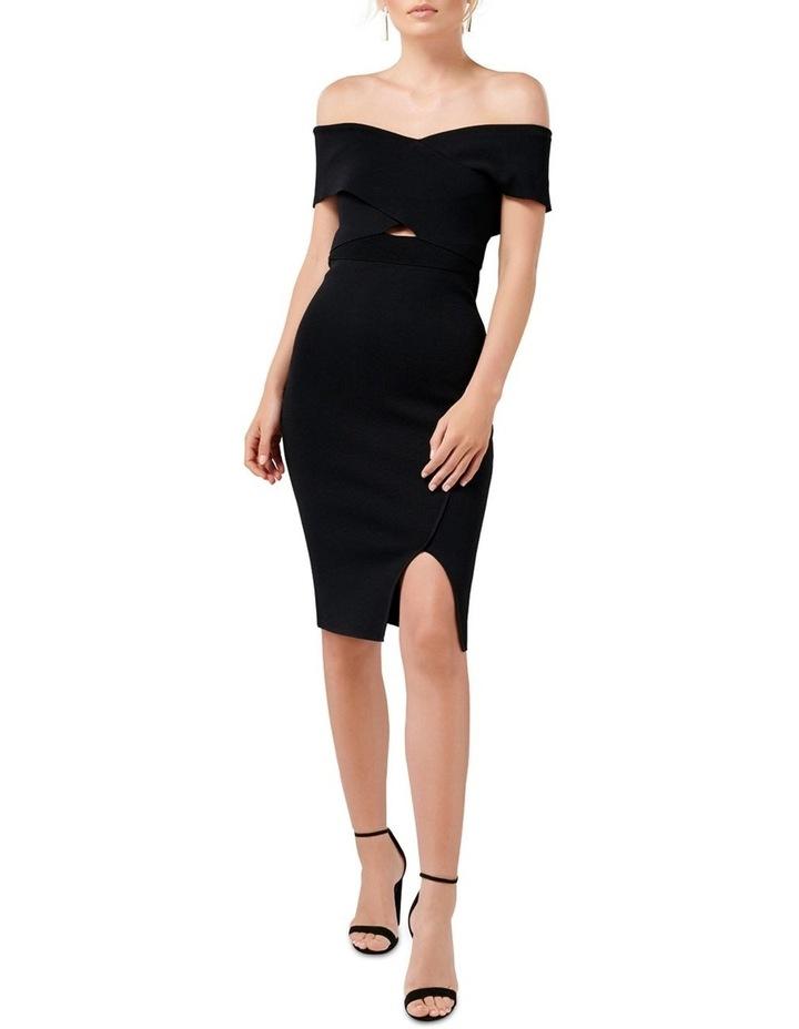 Luna Cross Front Bardot Knit Dress image 5