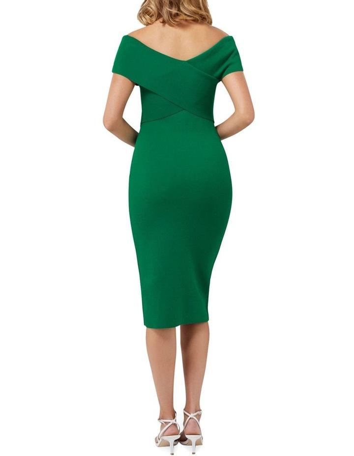 Luna Cross Front Bardot Knit Dress image 4