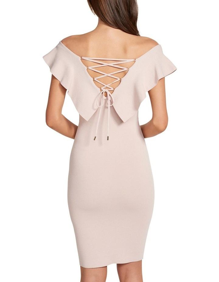 Sharna Frill Bardot Knit Dress image 4