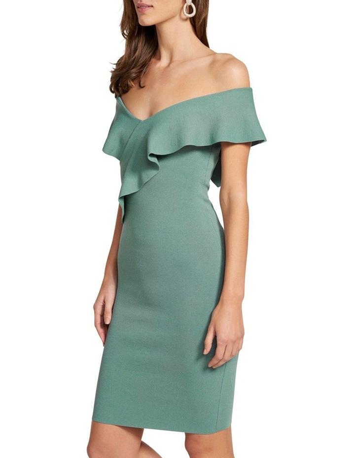 Sharna Frill Bardot Knit Dress image 3