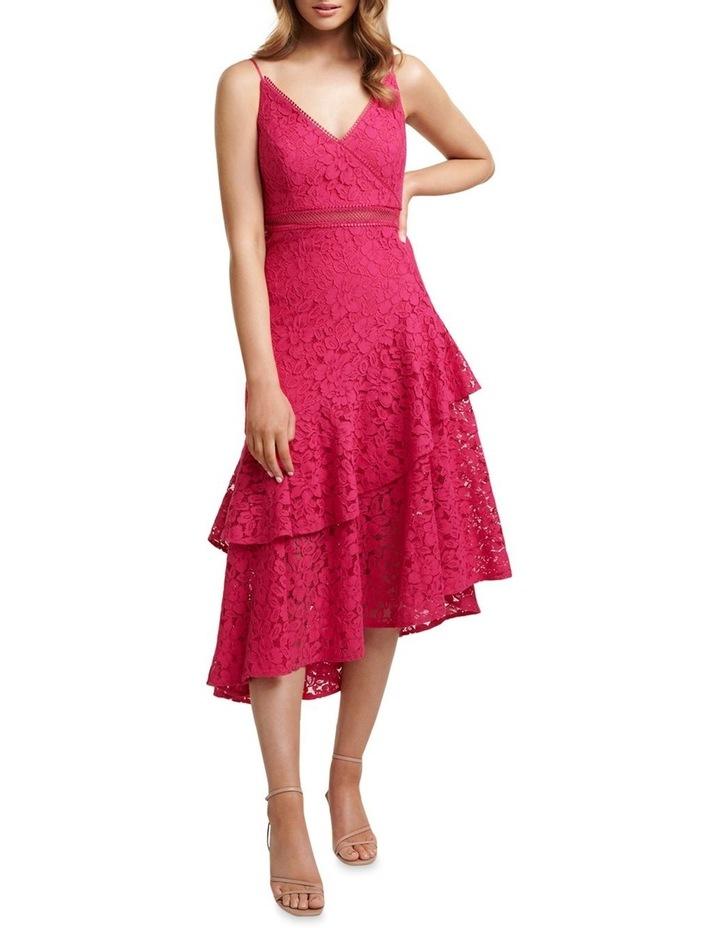 August Lace Ruffle Midi Dress image 1