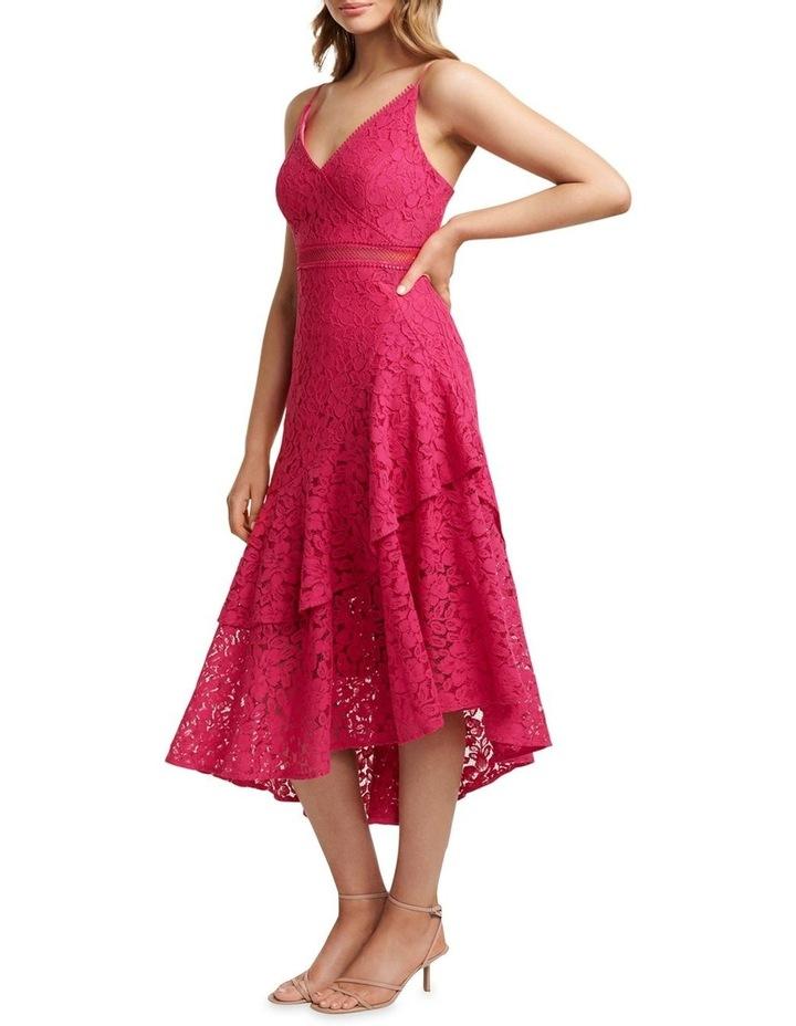 August Lace Ruffle Midi Dress image 2